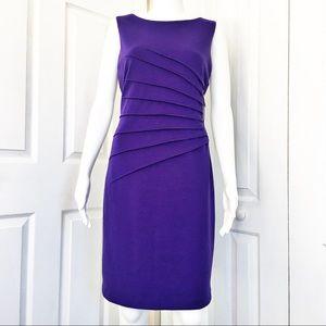 Ivanka Trump Ponte Starburst Pleat Dress